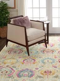 niederflor teppich kashan vintage mit bunten ornamenten