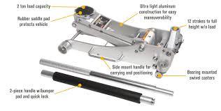 Hydraulic Floor Jack Adjustment by Arcan 2 Ton Aluminum Quick Rise Low Profile Service Floor Jack