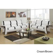 Lanza 2 Pieces Sofa Set Upholstered In Bonded Leather