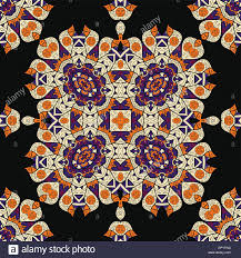 Seamless Carpet Ornament Design Oriental Ottoman Islamic Indian African Motif