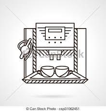 Espresso Machine Line Style Vector Icon