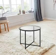 andas couchtisch conrad mit einer tischplatte aus schönem rauchglas pulverbeschichtetes metallgestell breite 55 cm