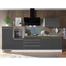 respekta premium küchenzeile 320 cm grau weiß hochglanz