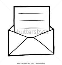 mail envelope cartoon vector and illustration black and white hand drawn sketch