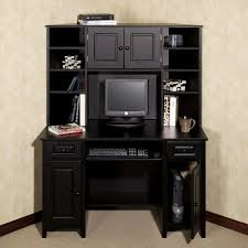 Auston Black Corner Desk DECORATING In 2019 Desk Desk Hutch