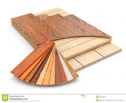 Installing Laminate Floor And Wood Samples Stock Illustration