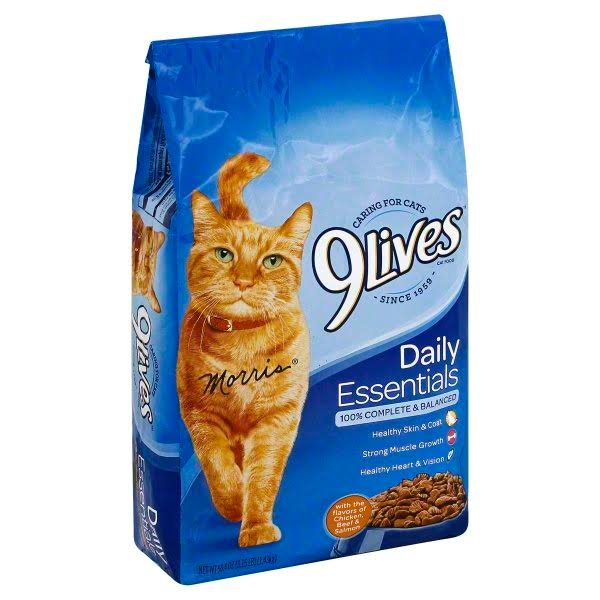 9lives Daily Essentials Cat Food - Flavors Of Chicken, Beef, & Salmon
