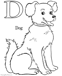Puppy And Dog Coloring Pages