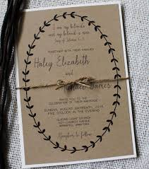 Simple Rustic Wedding Invitation Modern Design This Is The Perfect