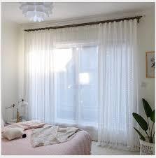transparente gardine modern blumen muster für schlafzimmer