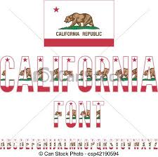 Usa Flag Font California State Alphabet Characters