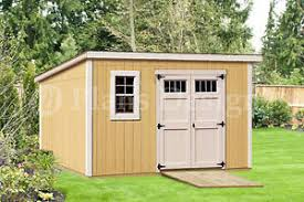 modern roof style 8 x 12 deluxe shed plans d0812m material