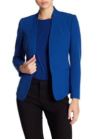 Anne Klein Collarless Tuxedo Blazer