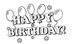 Birthday Clip Art Black Birthday Black And White Happy Birthday