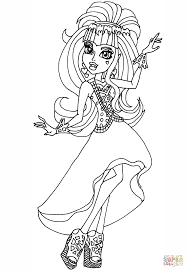 Click The Draculaura 13 Wishes Coloring Pages