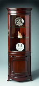 corner curio cabinet edwardian ii pulaski home gallery