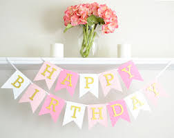 Pink And Gold Birthday Themes by 1st Birthday Party Etsy