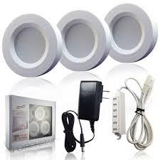 3watt led cabinet lighting kit aluminum puck lights