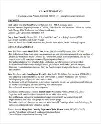 Usc School Of Social Work Resume by 29 Simple Work Resume Templates Free Premium Templates