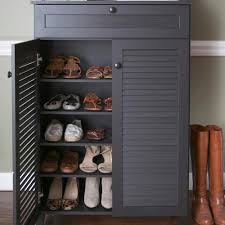 baxton studio harding wood shoe storage cabinet in dark brown