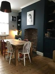 Farrow Ball Hague Blue Dining Room