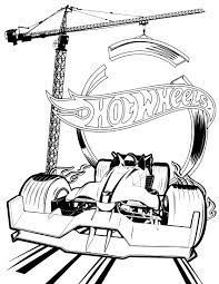 Fomula Car Hot Wheels Coloring Pages