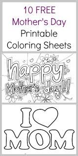 10 FREE Mothers Day Coloring Pages