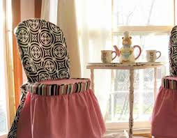 Slipcover Chairs Dining Room by Decoration Ideas Stunning Black And Red Cotton Slip Cover Chairs