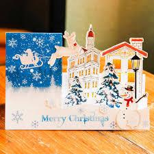 Christmas Stand DIY Pop Up Greeting Card Handmade Cards Greeting