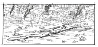 Lot Of Work At Moment But Just Outlined A Sketch For The Frame Fifth Page From Second Chapter It Gets Darker Here