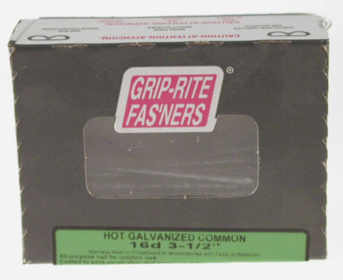 Grip Rite Hot Galvanised Common Nails - 0.5kg, 16D, 8.9cm