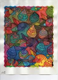Page From Seashell Patterns Coloring Book Jessica Mazurkiewicz Dover Pub I Line DrawingsWatercolor PaperPrinter