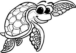 Underwater Tortoise Turtle Coloring Page