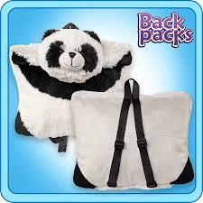 Panda Bookbag Pillow Pet Backpack