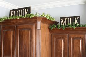 Above Kitchen Cabinet Decorations Pictures by Best Greenery Above Kitchen Cabinets 29 For Your Above Kitchen