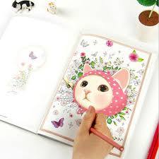 Newest 80Pages Korea Style 25cm Secret Garden Coloring Book Drawing Toys Mandala Educational Kids