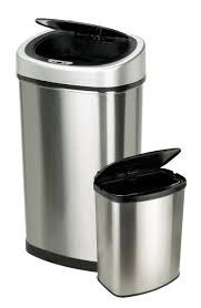 Small Bathroom Trash Can by Set Of 2 Touchless Automatic Motion Sensor Trash Cans Only 49 98