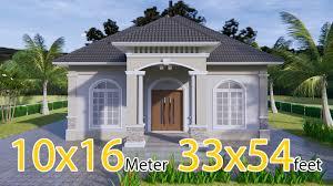 104 Contempory House Contemporary 33x54 Feet 10x16 Meter 3 Beds Design 3d