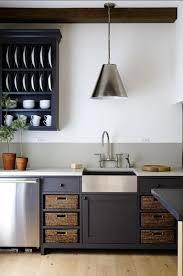 meuble suspendu cuisine cuisine peinture meuble gris antharcite crédence gris pastel