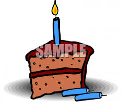 Clipart Picture A Piece Chocolate Birthday Cake