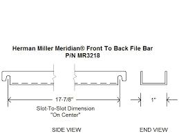 herman miller meridian front to back file bar herman miller
