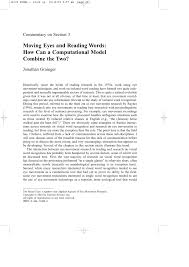 PDF Eye Movements When Reading Transposed Text The Importance Of