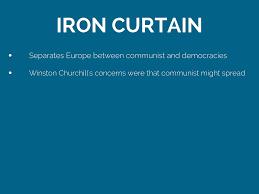 Winston Churchill Delivers Iron Curtain Speech Definition by Iron Curtain Cold War Summary Memsaheb Net