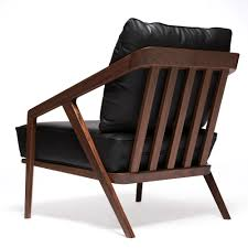 Katakana Lounge Chair American Black Walnut Leather
