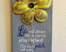 Wall Decor Softball Sign