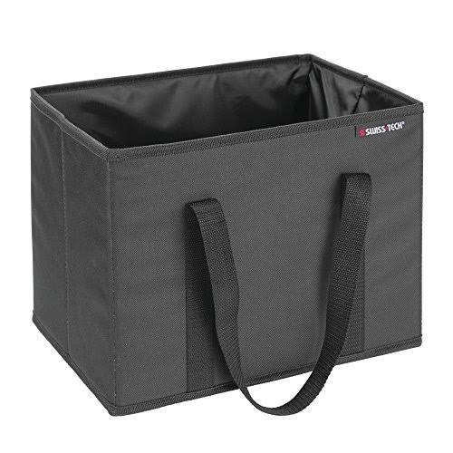 "Swiss Tech Insulated Portable Cooler Box - Black, 10.25"" x 9"" x 12.5"""