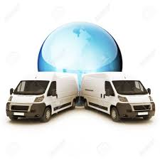100 Truck Courier World Wide Sevrvice Concpet With Room For Copy Stock