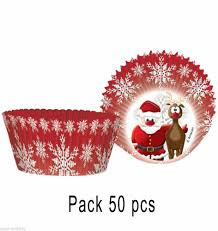 Pack 50 Christmas Cupcake Cases By Amscan 995937