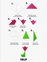 Make Tulip Flower Paper Folding
