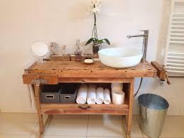 waschtisch aus einer hobelbank badezimmer vintage